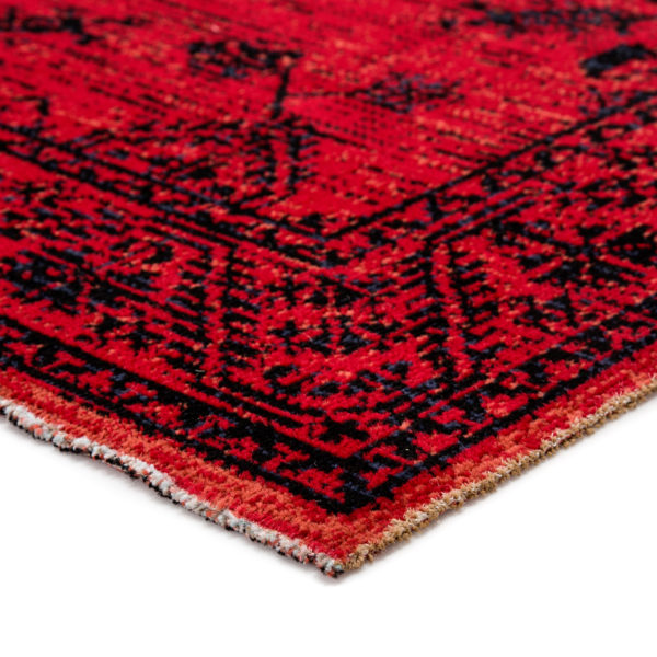 Jaipur Living Fayer Indoor/ Outdoor Medallion Red/ Black Area Rug (2'X3')