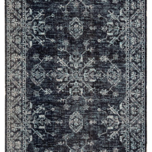 Jaipur Living Fayer Indoor/ Outdoor Medallion Blue/ Black Area Rug (2'X3')