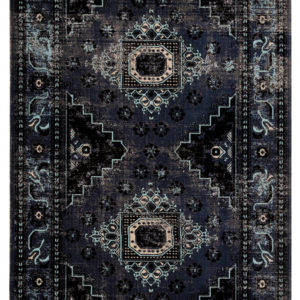 Jaipur Living Westlyn Indoor/ Outdoor Medallion Black/ Blue Area Rug (2'X3')