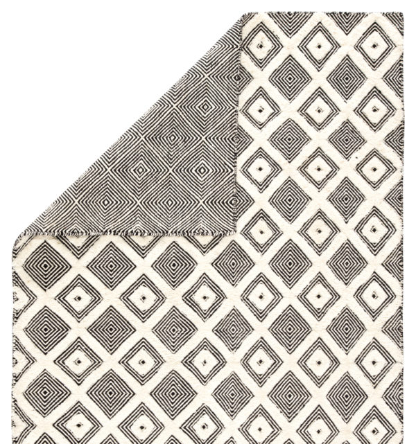 Jaipur Living Bosc Indoor/ Outdoor Trellis Ivory/ Black Area Rug (2'X3')
