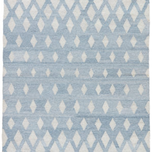 Jaipur Living Winipeg Indoor/ Outdoor Geometric Blue/ Cream Area Rug (2'X3')