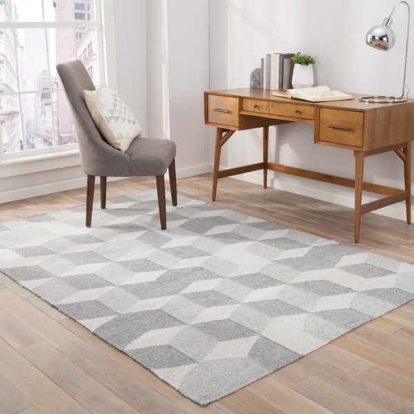 Jaipur Living Vista Indoor/ Outdoor Geometric Gray Area Rug (2'X3')