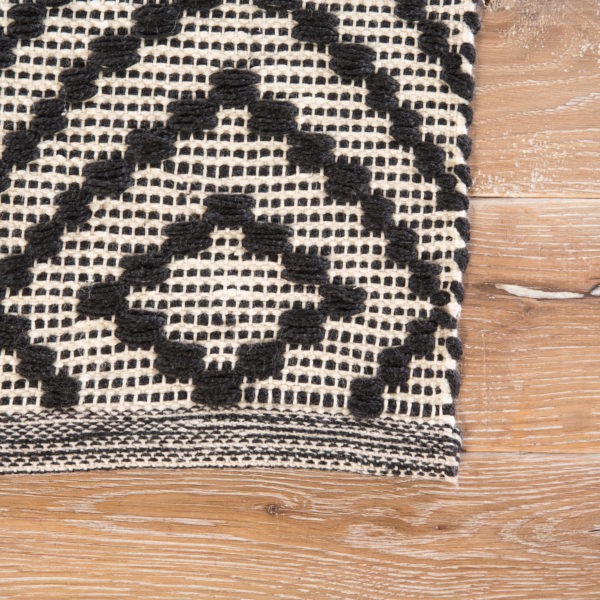 Jaipur Living Flume Indoor/ Outdoor Trellis Black/ Cream Area Rug (2'X3')