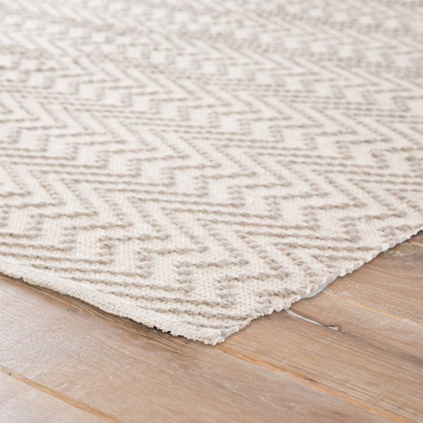 Jaipur Living Watts Indoor/ Outdoor Geometric Gray/ White Area Rug (2'X3')