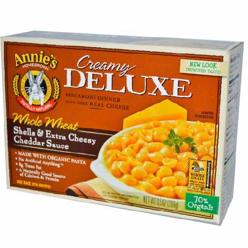 Annie's Deluxe Whole Wheat Shells & Cheddar (12x9.5 Oz)