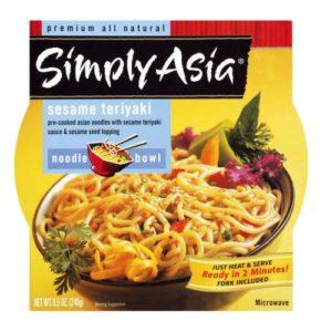 Simply Asia Sesame Teriyaki Noodle Bowl (6x8.5 Oz)