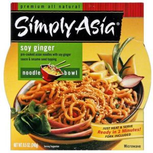Simply Asia Soy Ginger Noodle Bowl (6x8.5 Oz)