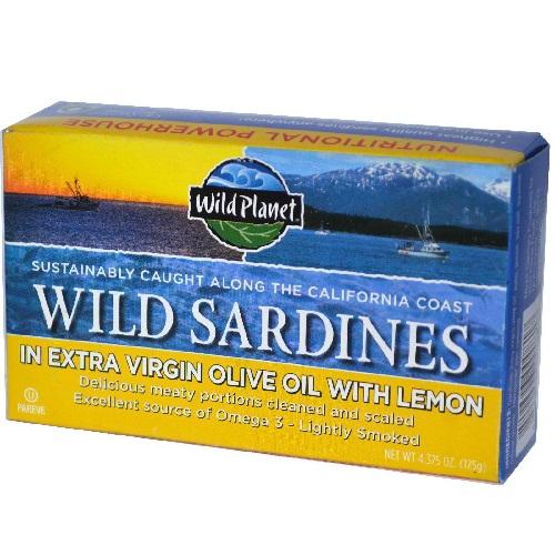 Wild Planet Wild Sardines in Oil & Lemon (12x4.375 Oz)