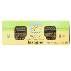 Bionaturae Lasagna Whole Wheat Pasta (12x12 Oz)
