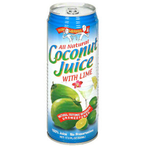 Amy & Brian Coconut Juice With Lime (12x17.5 Oz)
