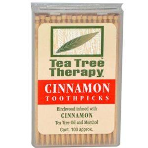 Tea Tree Therapy Cinnamon Toothpicks (12x100 CT)