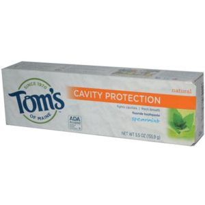 Tom's Of Maine Spearmint Toothpaste With Fluoride (6x5.5 Oz)