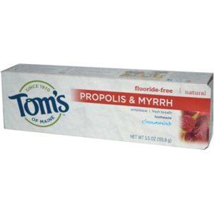 Tom's Of Maine Cinnamon Fluoride Free with Propolis & Myrrh Toothpaste (6x5.5 Oz)