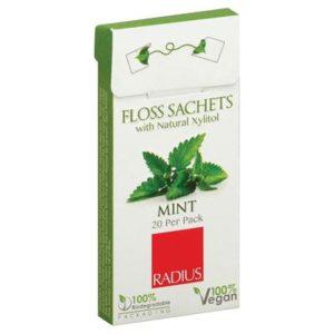Radius Dental Floss Sachet Xylitol Mint (20x)