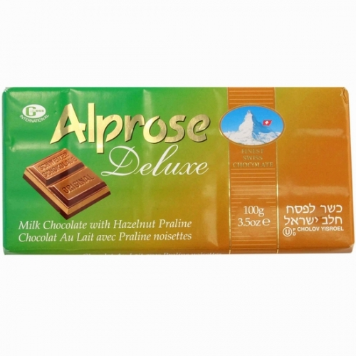 Alprose Milk Chocolate Bar Hazelnut (20x3.5OZ )