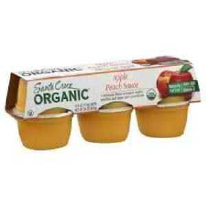 Santa Cruz Organics Apple Pch Sauce Cup (12x6 CT)