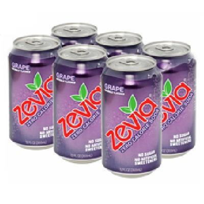 Zevia Grape Soda (4x6Pack )