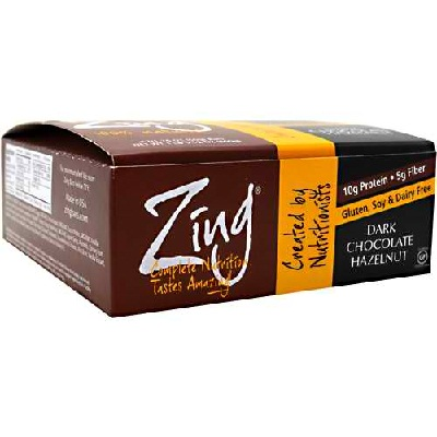 Zing Dark Chocolate Hazelnut Bar (12x1.76OZ )