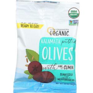 Mediterranean Organics Kalamata Pitted Olives (12x2.5 OZ)