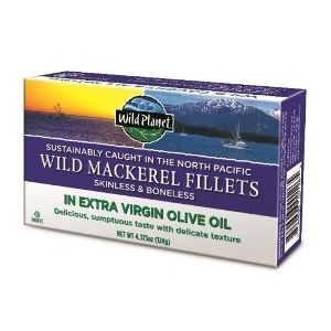 Wild Planet Mackerel Fillets In Extra Virgin Olive Oil (12x4.37 OZ)
