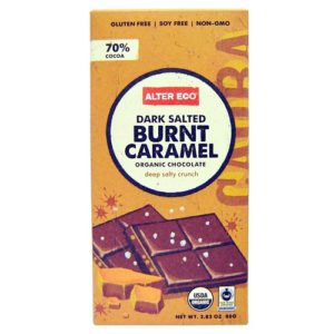 Alter Eco Dark Salted Burnt Caramel Organic Chocolate (12x2.82 OZ)