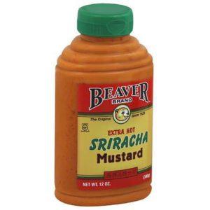 Beaver Extra Hot Sriracha Mustard  (6x12 OZ)