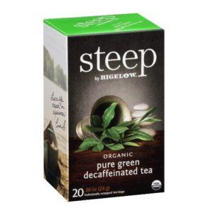Bigelow Steep Organic Pure Green Decaffeinated Tea (6x20 BAG )