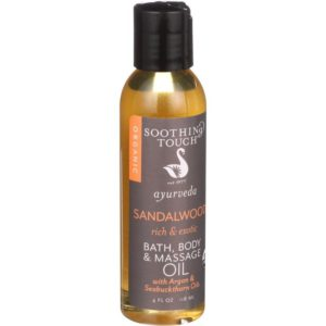 Soothing Touch Bath Body and Massage Oil Sandalwood (1x4 OZ)